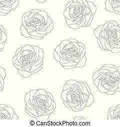 Rose Outline Background