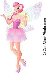 rose, papillon, ok, illustration., projection, ailes, vecteur, fée, signe.