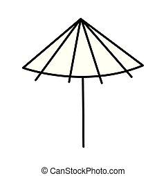 rose, parapluie, dessin animé
