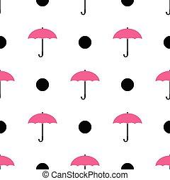 rose, parapluie, pattern., seamless