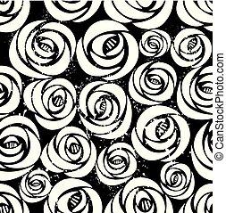rose, pattern., seamless