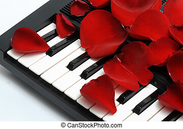 Rose Pedals and key board