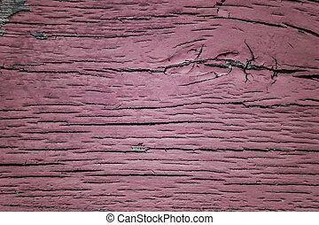 rose, peint, bois, fond