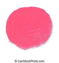 rose, peinture, acrylique, vecteur, cercle