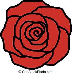Rose petal icon