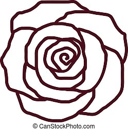 Rose petal outline