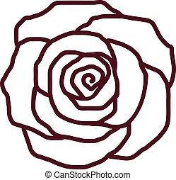 Rose petal outline