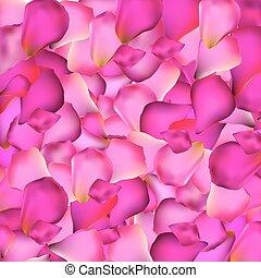 Rose Petals Background Vector Illustration