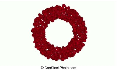 rose petals shaped wreath,wedding background,Valentine's Day.