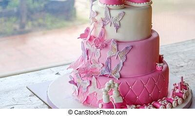 rose, peu, non, sugarpaste, gens, célébrer, anniversaire, ...