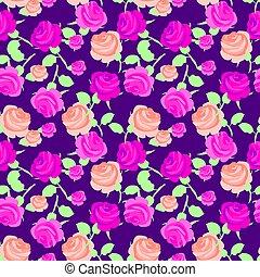 rose, peu, vecteur, illustration