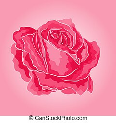Rose pink simple  symbol  of love