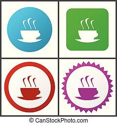rose, plat, bleu, toile, éditer, set., express, icons., symboles, vecteur, vert, facile, signes, conception, rouges, icône
