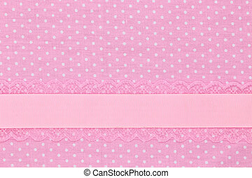 rose, polka, textile, retro, fond, point