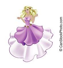 rose, princesse