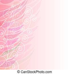 rose, pur, modèle, résumé, fond, floral, gauche
