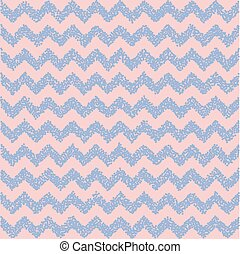Rose quartz and serenity. Chevron backdrop. Vector...