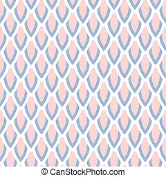 Rose quartz and serenity violet scale vector geometric seamless pattern. Classic simple style.