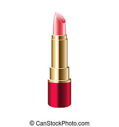 rose, réaliste, rouge lèvres