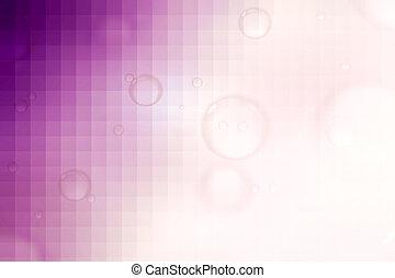 rose, résumé, arrière-plan., fond, bulles, savon