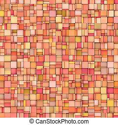 rose, résumé, carreau, mosaïque, orange, toile de fond