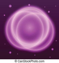 rose, résumé, effet, fond, cercle, plasma