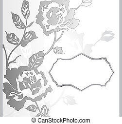 rose, résumé, fleur, bannière
