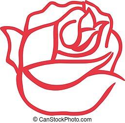 rose, résumé, fleur