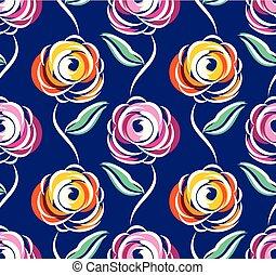 rose, résumé, fleur, seamless, modèle