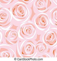 rose, résumé, seamless, fond