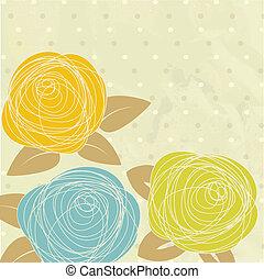 rose, résumé, vecteur, flower., illustration
