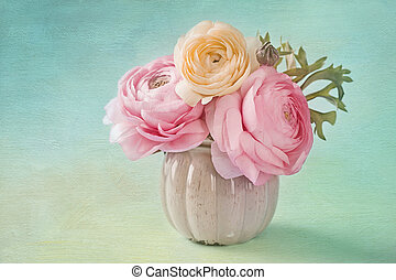 rose, ranunculus