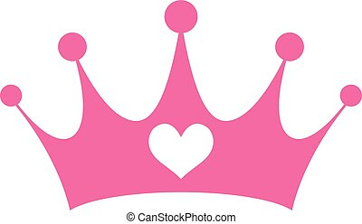 rose, redevance, couronne, princesse, girly