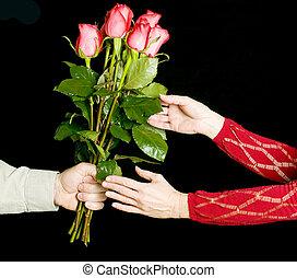 rose, regalo