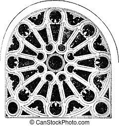 Rose Renaissance, In the Church of Sainte-Clotilde Andelys,...