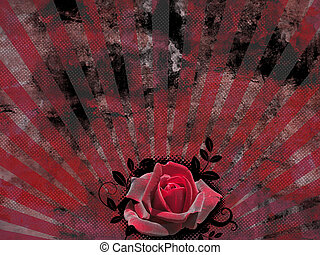 rose, retro, hintergrund