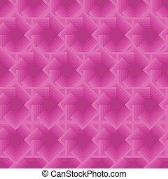 rose, rhombuses., modèle, seamless, carrés, géométrique