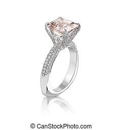 rose, ring., diamant