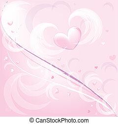 rose, romantique, fond