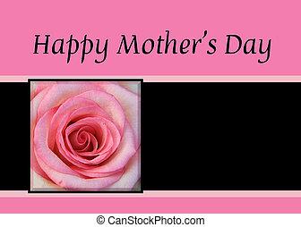 rose rose, fête mères, carte