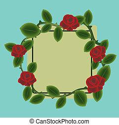 rose rosse, cornice