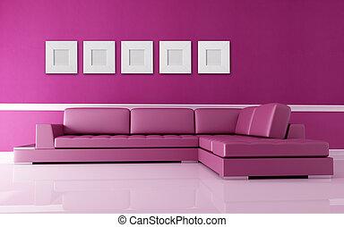 rose, salle de séjour