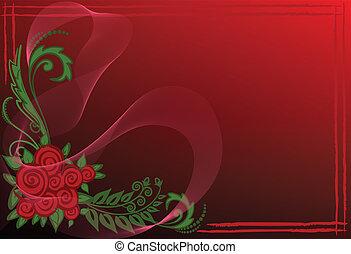 rose, scheda affari, rosso
