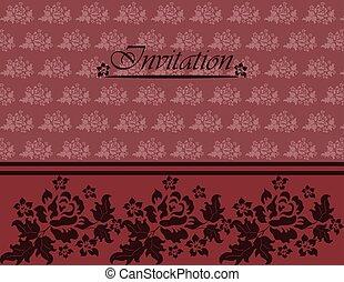 rose, scheda, invito