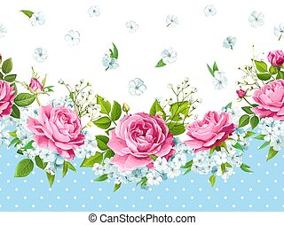 Rose seamless border