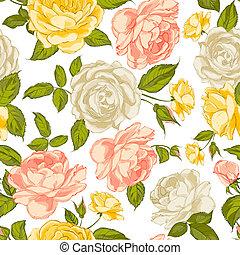 rose, seamless, fondo.