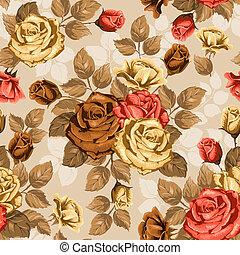 rose., seamless, hintergrund.