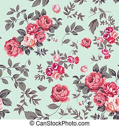 Rose Seamless Pattern - Decorative seamless pattern with ...