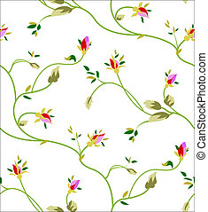 rose seamless pattern - Seamless pattern with rosebuds and...