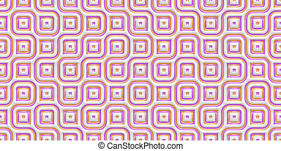 Rose Seamless Truchet Tilling Background. Geometric Mosaic Connections Texture. Tile Circles Labyrinth Backdrop.